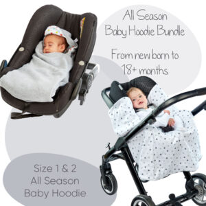 morrck baby hoodie size 1 and 2 bundle in grey