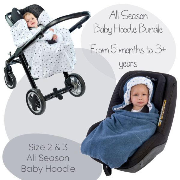 a morrck travel wrap size 2 and 3 in a travel system and toddler car seat