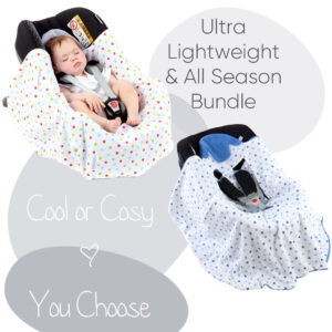 morrck ultra lightweight and all-season baby car seat blanket bundle