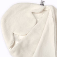 a morrck baby car seat blanket in cream fleece and cotton jersey