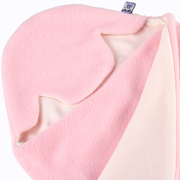 5af1c3210bc ... Car Seat wrapped. Pink Cream All Season Baby Hoodie Swatch