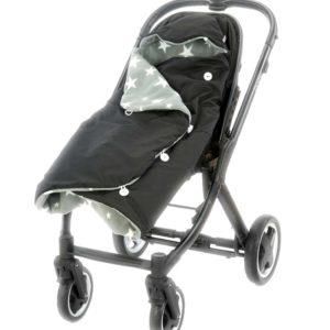black morrck rambler footmuff in pushchair