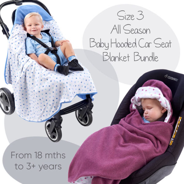 morrck all season baby hooded car seat blanket size 3 bundle deal
